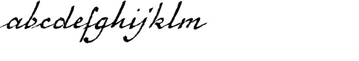 1920 French Script Regular Font LOWERCASE