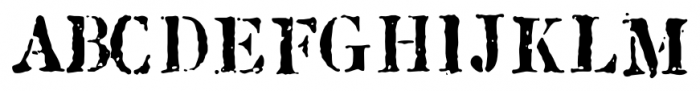 1917 Stencil Proportional Normal Font UPPERCASE