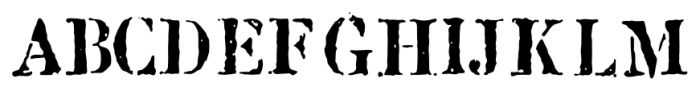 1917 Stencil Proportional Normal Font LOWERCASE