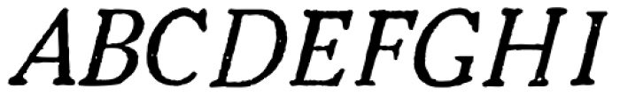 1906 French News Caps Italic Font UPPERCASE