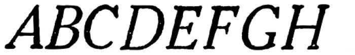1906 French News Italic Font UPPERCASE