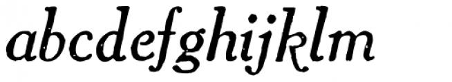 1906 French News Italic Font LOWERCASE