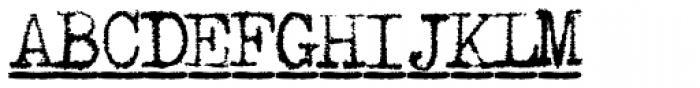 1913 Typewriter Bold Font UPPERCASE