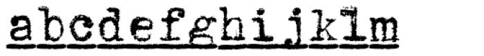 1913 Typewriter Bold Font LOWERCASE