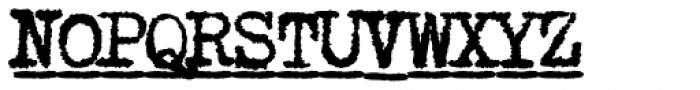 1913 Typewriter Carbon Bold Font UPPERCASE