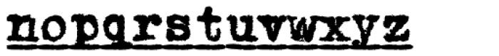 1913 Typewriter Carbon Bold Font LOWERCASE
