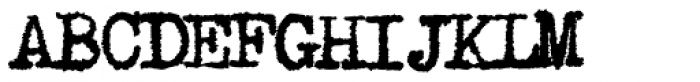 1913 Typewriter Carbon Normal Font UPPERCASE