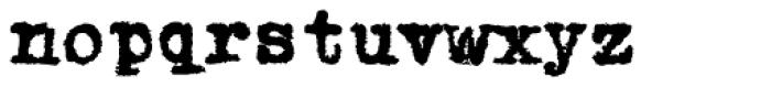1913 Typewriter Carbon Normal Font LOWERCASE