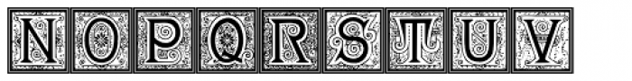 19th Century American Initials Font UPPERCASE