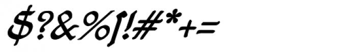 19th Century Retro Italic Font OTHER CHARS
