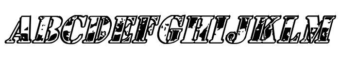 1st Cav Italic Font LOWERCASE