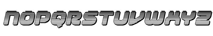 1st Enterprises Chrome Italic Font LOWERCASE