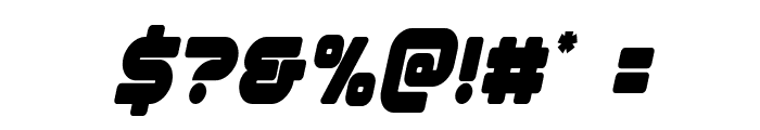 1st Enterprises Condensed Italic Font OTHER CHARS