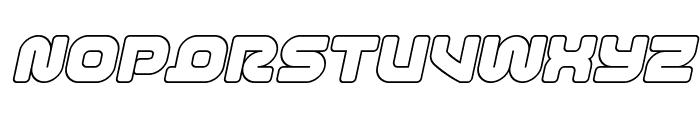 1st Enterprises Outline Italic Font UPPERCASE