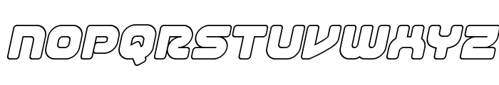 1st Enterprises Outline Italic Font LOWERCASE