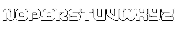 1st Enterprises Outline Font UPPERCASE