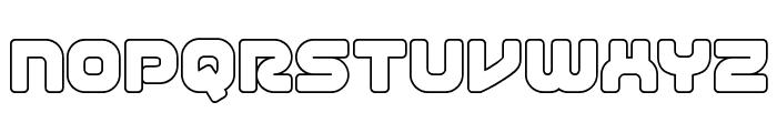 1st Enterprises Outline Font LOWERCASE