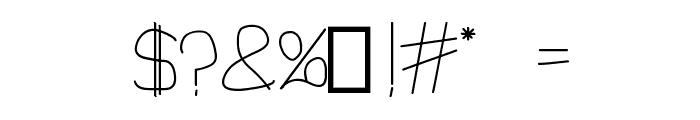 1st Handwritten Font OTHER CHARS