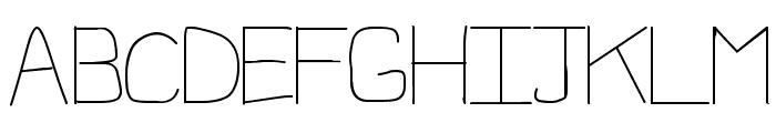 1st Handwritten Font UPPERCASE