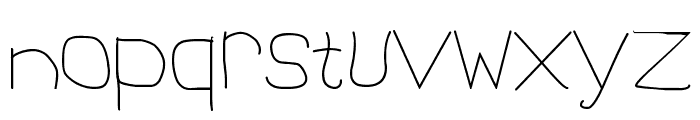 1st Handwritten Font LOWERCASE