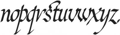 2010 Cancellaresca Recens otf (400) Font LOWERCASE