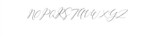 2 Rachela Script italic.ttf Font UPPERCASE