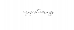 2 Rachela Script italic.ttf Font LOWERCASE