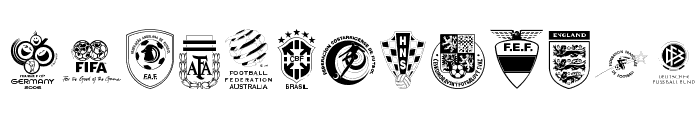 2006 Team Font LOWERCASE