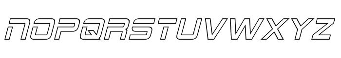 2015 Cruiser Hollow Italic Font UPPERCASE