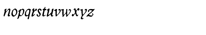 2009 GLC Plantin Italic Font LOWERCASE