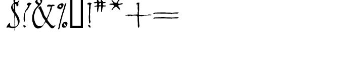 2009 Primitive Normal Font OTHER CHARS