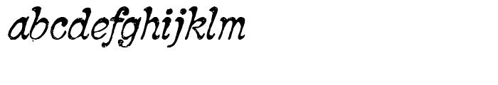 2010 Pipo Italic Font LOWERCASE