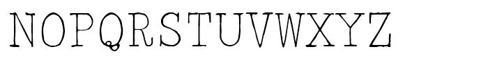 2011 Slimtype Regular Font UPPERCASE
