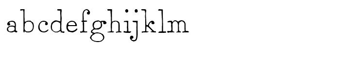2011 Slimtype Regular Font LOWERCASE