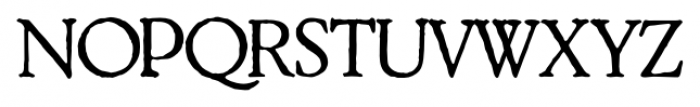 2009 GLC Plantin Normal Font UPPERCASE