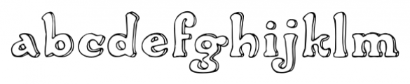 2009 Handymade Normal Font LOWERCASE