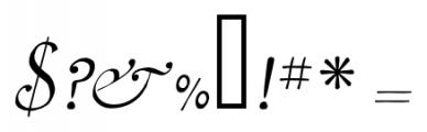 2009 Lollipop Normal Font OTHER CHARS