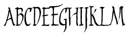 2009 Primitive Normal Font UPPERCASE