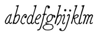 2011 Slimtype Italic Font LOWERCASE