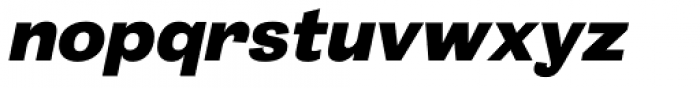 20 Kopeek Black Italic Font LOWERCASE