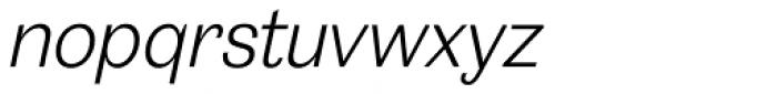 20 Kopeek Light Italic Font LOWERCASE