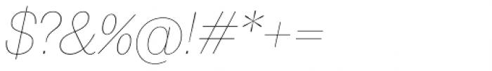 20 Kopeek Thin Italic Font OTHER CHARS