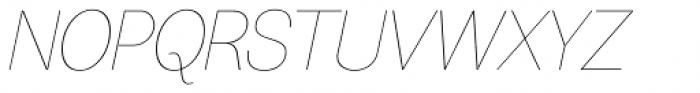 20 Kopeek Thin Italic Font UPPERCASE