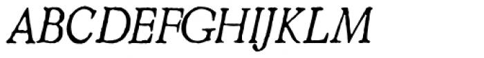 2009 GLC Plantin Italic Font UPPERCASE