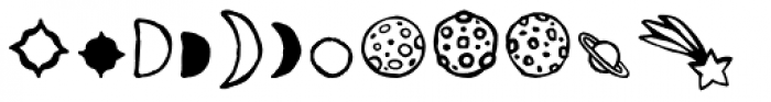 2010 Outta Space Icons Font LOWERCASE