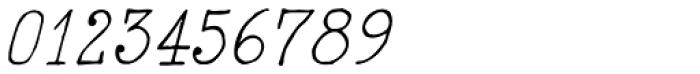 2011 Slimtype Italic Font OTHER CHARS