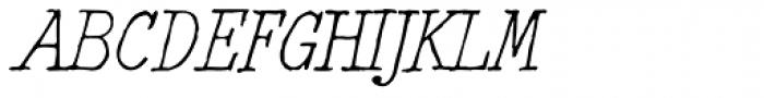 2011 Slimtype Italic Font UPPERCASE