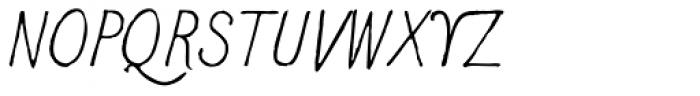 2011 Slimtype Sans Italic Font UPPERCASE