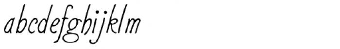 2011 Slimtype Sans Italic Font LOWERCASE