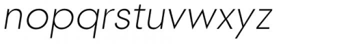 2030 Extra Light Italic Font LOWERCASE